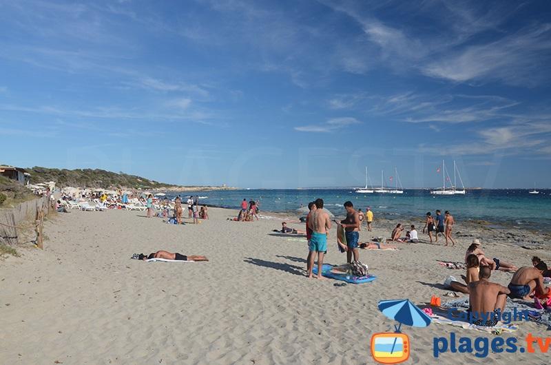 Plage des Salines au sud d'Ibiza