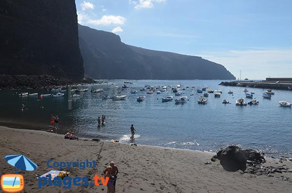 Falaises à Valle Gran Rey au niveau de la plage de Vueltas - La Gomera