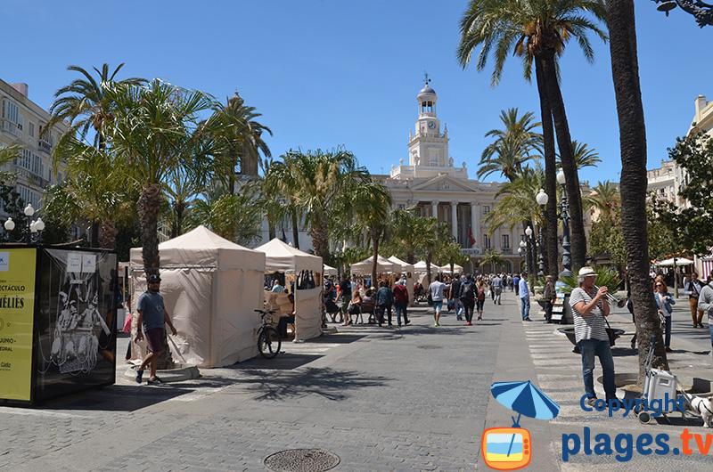 Place de San Juan Dios à Cadix en Espagne