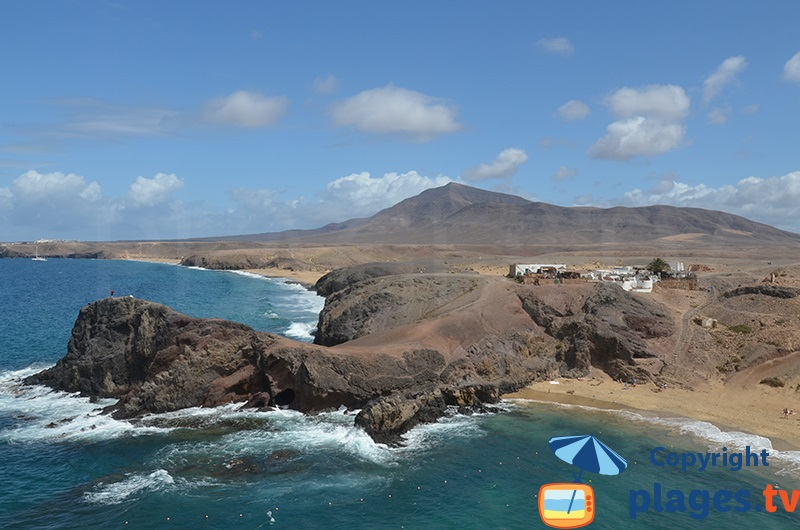 Pointe de Papagayo à Lanzarote