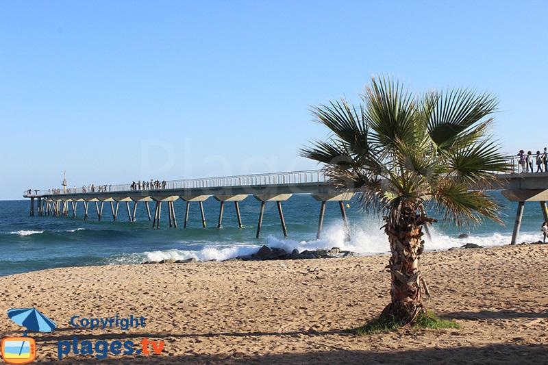 Plage et pont de Badalona