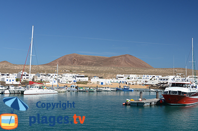 Port of La Graciosa in Lanzarote