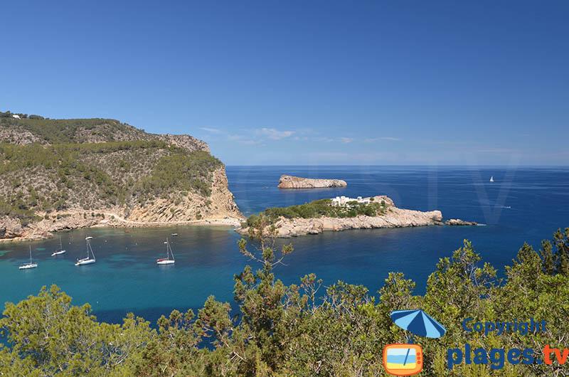 Baie de Port Sant Miquel à Ibiza