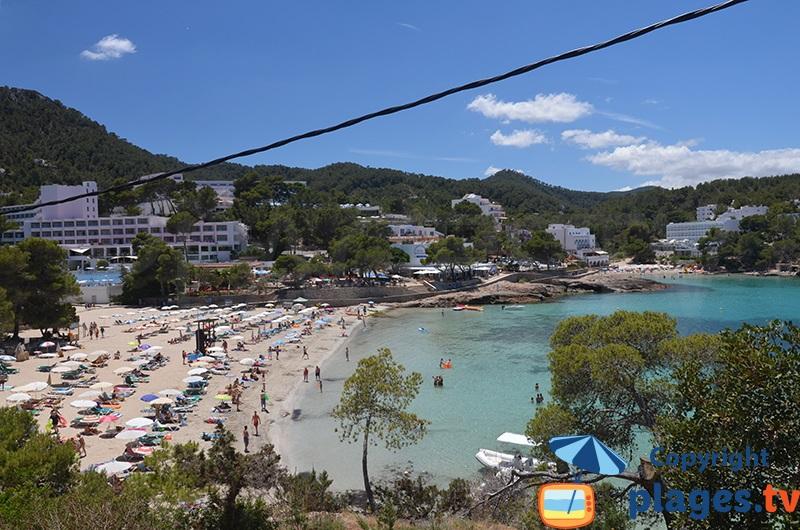 Portinatx au nord d'Ibiza