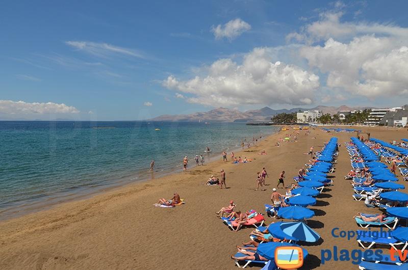 Puerto del Carmen à Lanzarote avec sa belle plage