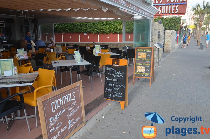 Restaurants sur le front de mer de Benidorm