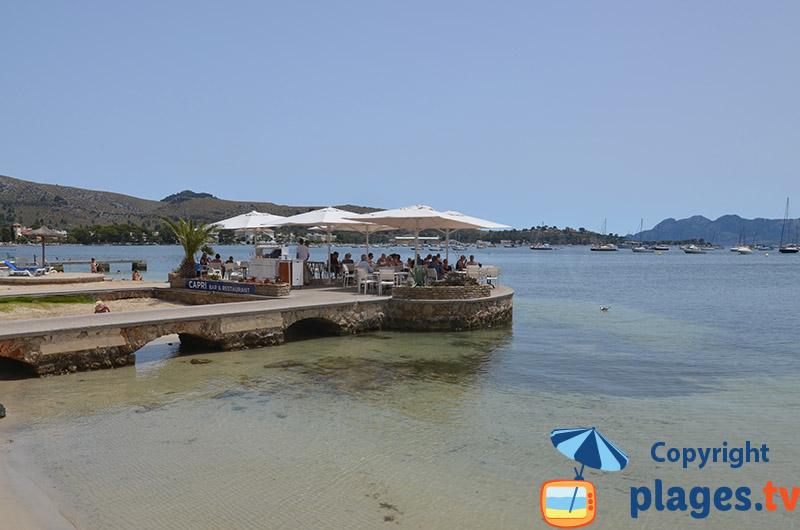 Restaurant les pieds dans l'eau à Port-Pollenca