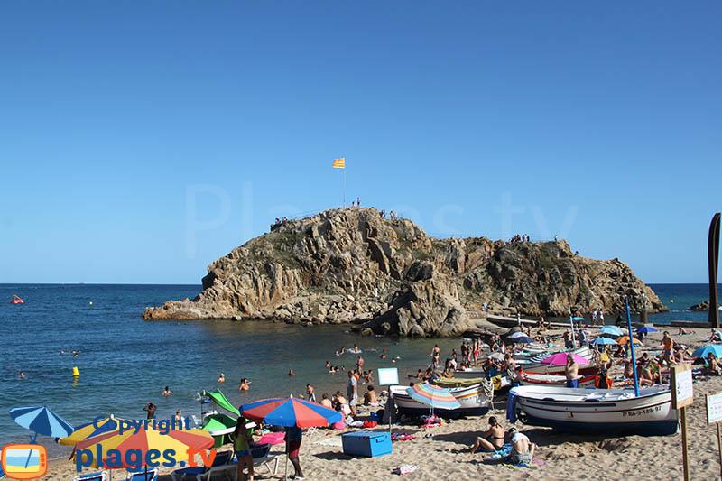Rocher de Sa Palomera - frontière entre la Costa Brava et la Costa Maresme - Espagne