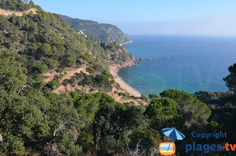Costa Brava entre Tossa de Mar et Sant Feliu de Guixols