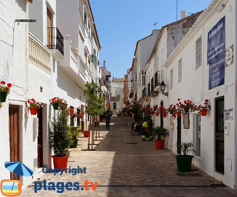 Ruelle fleurie dans la vieille ville d'Estepona