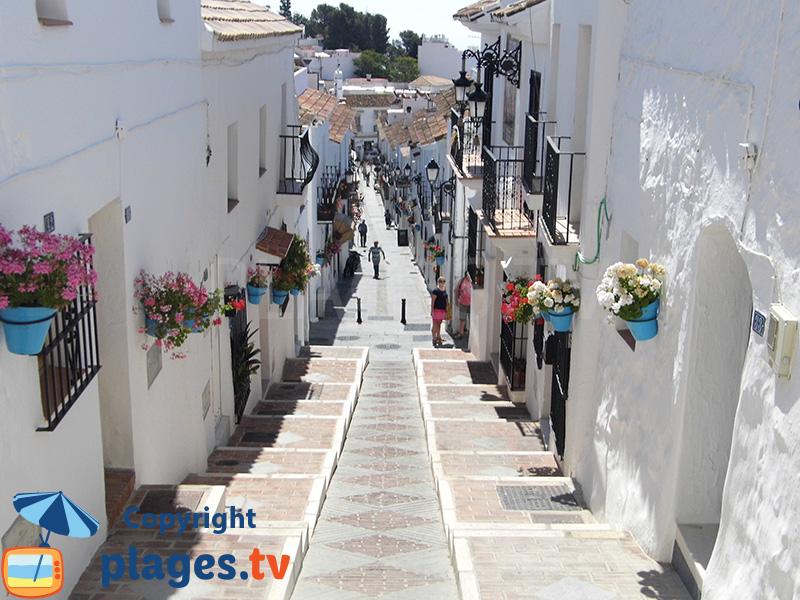 Ruelle dans le centre historique de Mijas