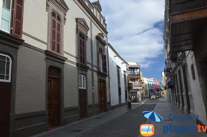 Ruelle dans la vieille ville de Las Palmas à Gran Canaria