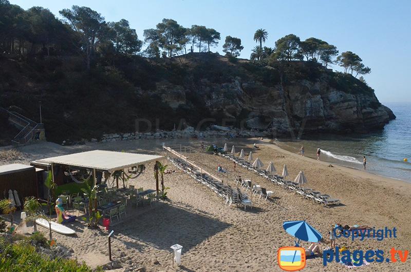 Crique de Cala Crancs à Salou en Espagne