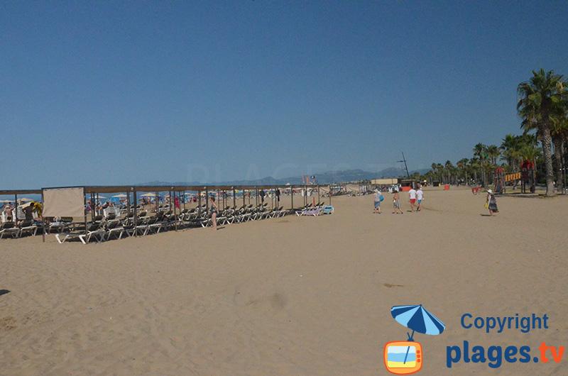 Grande plage du Levante de Salou