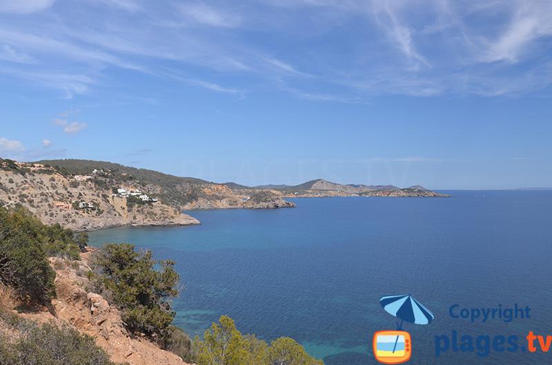 La côte sud de Sant Josep de sa Talaia
