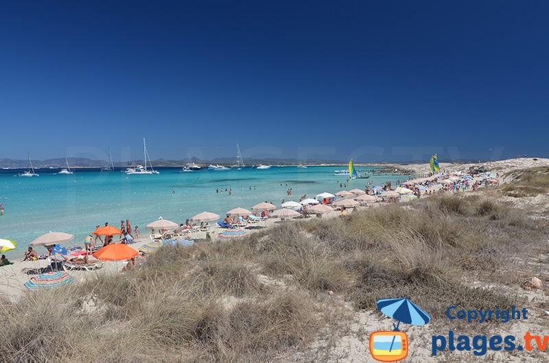 Ses Illettes sur l'ile de Formentera