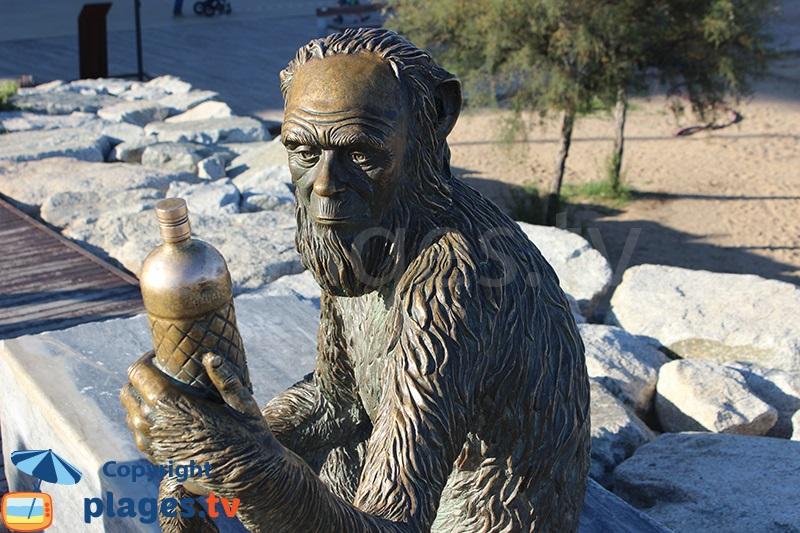 Statue du singe de Badalona