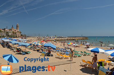 Sitges beach in Spain