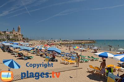 Sitges plage et vieille ville