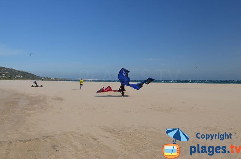Spot de kitesurf de Valdevaqueros à Tarifa en Espagne