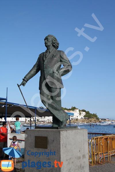 Statue de Dali à Cadaquès