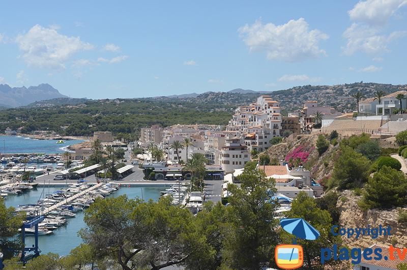 Teulada Moraira côté port - Espagne