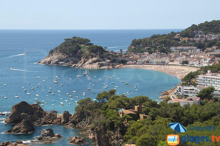 Tossa de Mar, sa plage et sa vieille ville