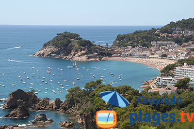Beaches in Tossa de Mar Catalonia Spain Seaside resort of