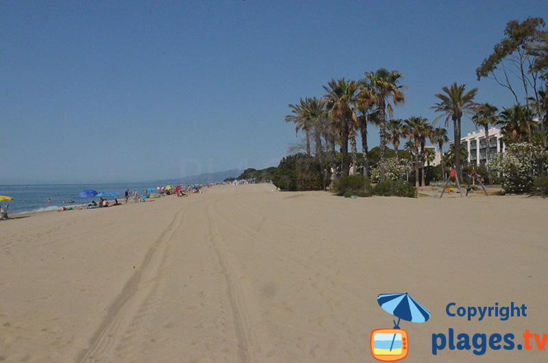 Belle plage entre Salou et Cambrils