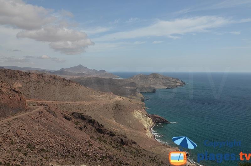 Parc de Cabo de Gata Nijar depuis le phare