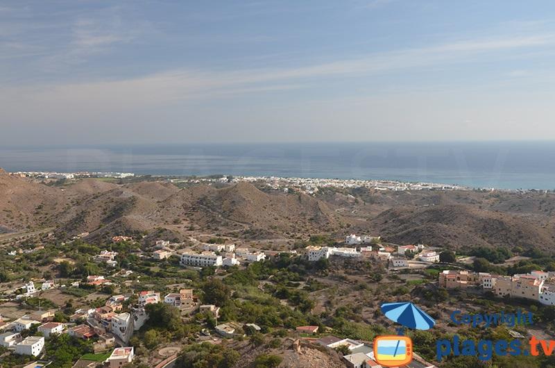 Panorama depuis Mojacar en direction de la mer