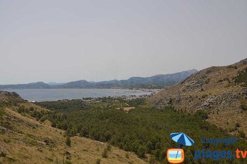 Baie de Pollenca depuis Formentor