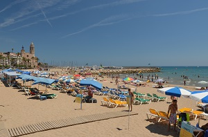 Beaches in Sitges